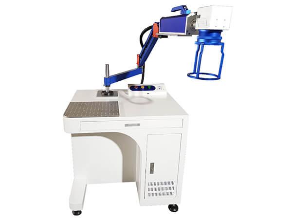 Swing arm fiber laser marking machine