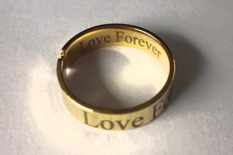 Gold laser engraving machine for jewelry ring