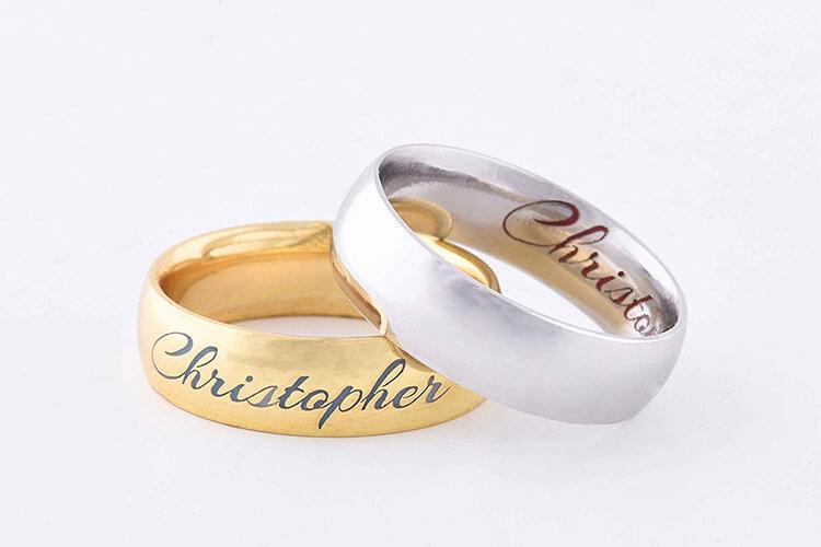 Gold laser engraving machine for ring